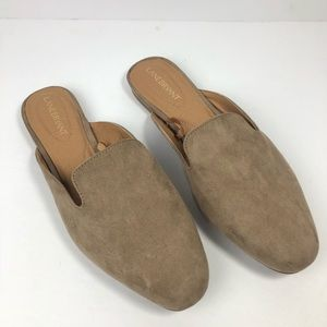 •Lane Bryant• Taupe Tan Brown Mule Suede Flats